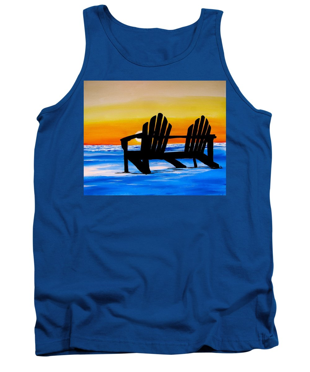 Sunset Painting Tank Top featuring the painting Sunset View by Carol Blackhurst