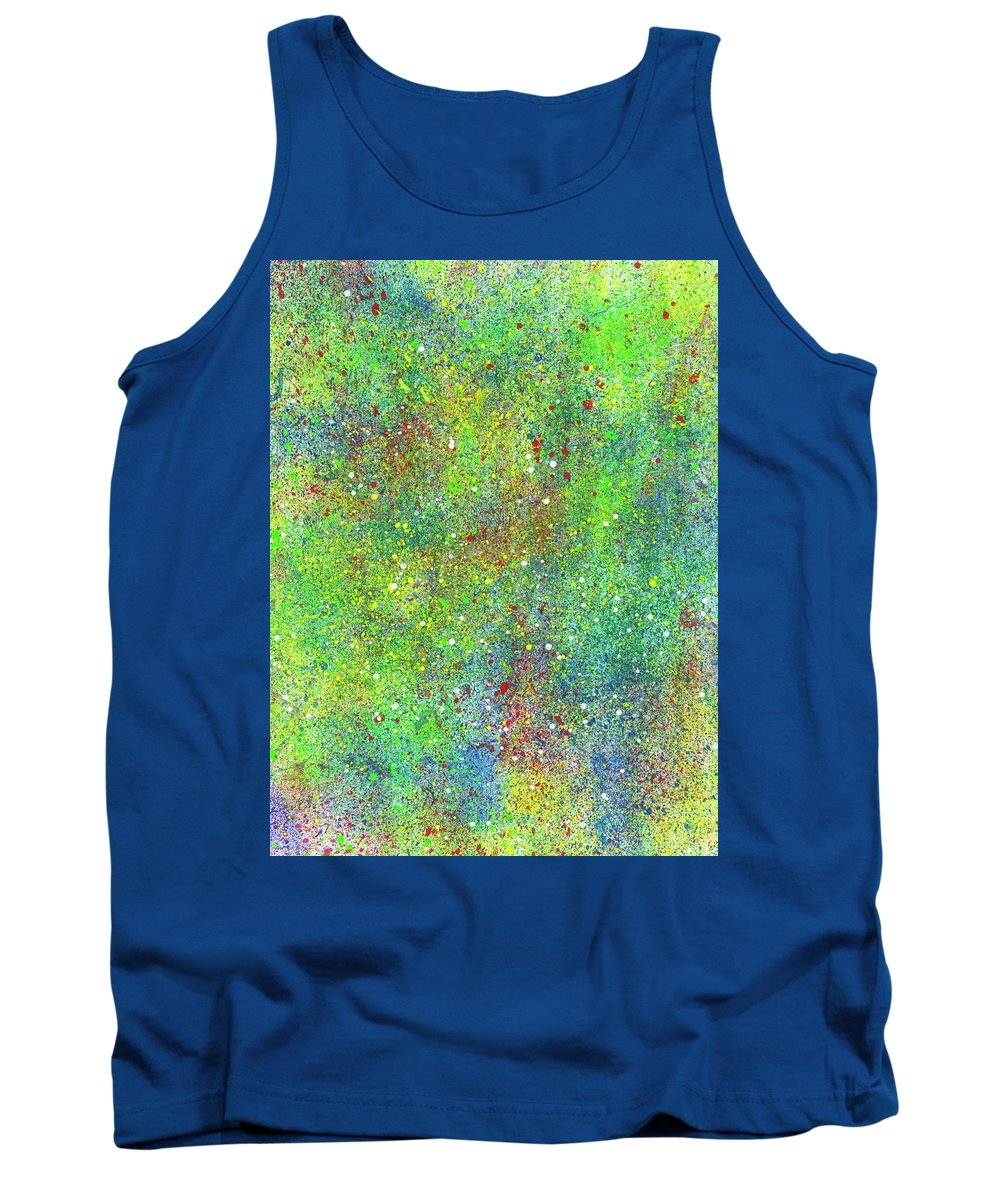 Abstract Tank Top featuring the painting Super Star Clusters Universe #542 by Rainbow Artist Orlando L