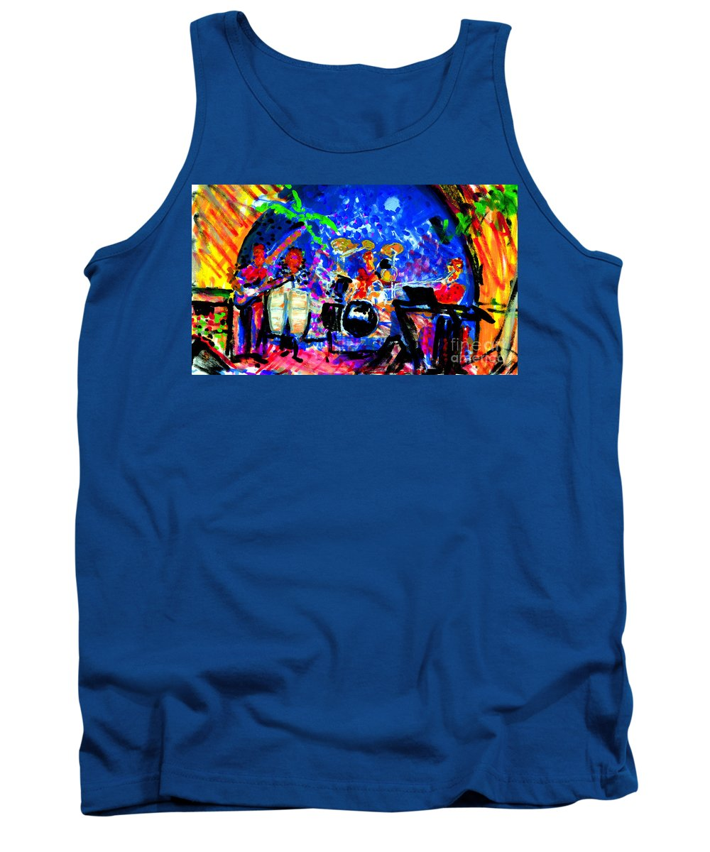 Target Band Painting Tank Top featuring the painting Target At The Palm Club by Candace Lovely