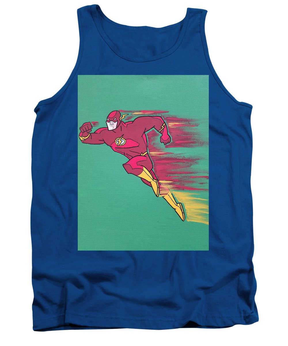 Flash Tank Top featuring the painting The Flash by Johnny McNabb