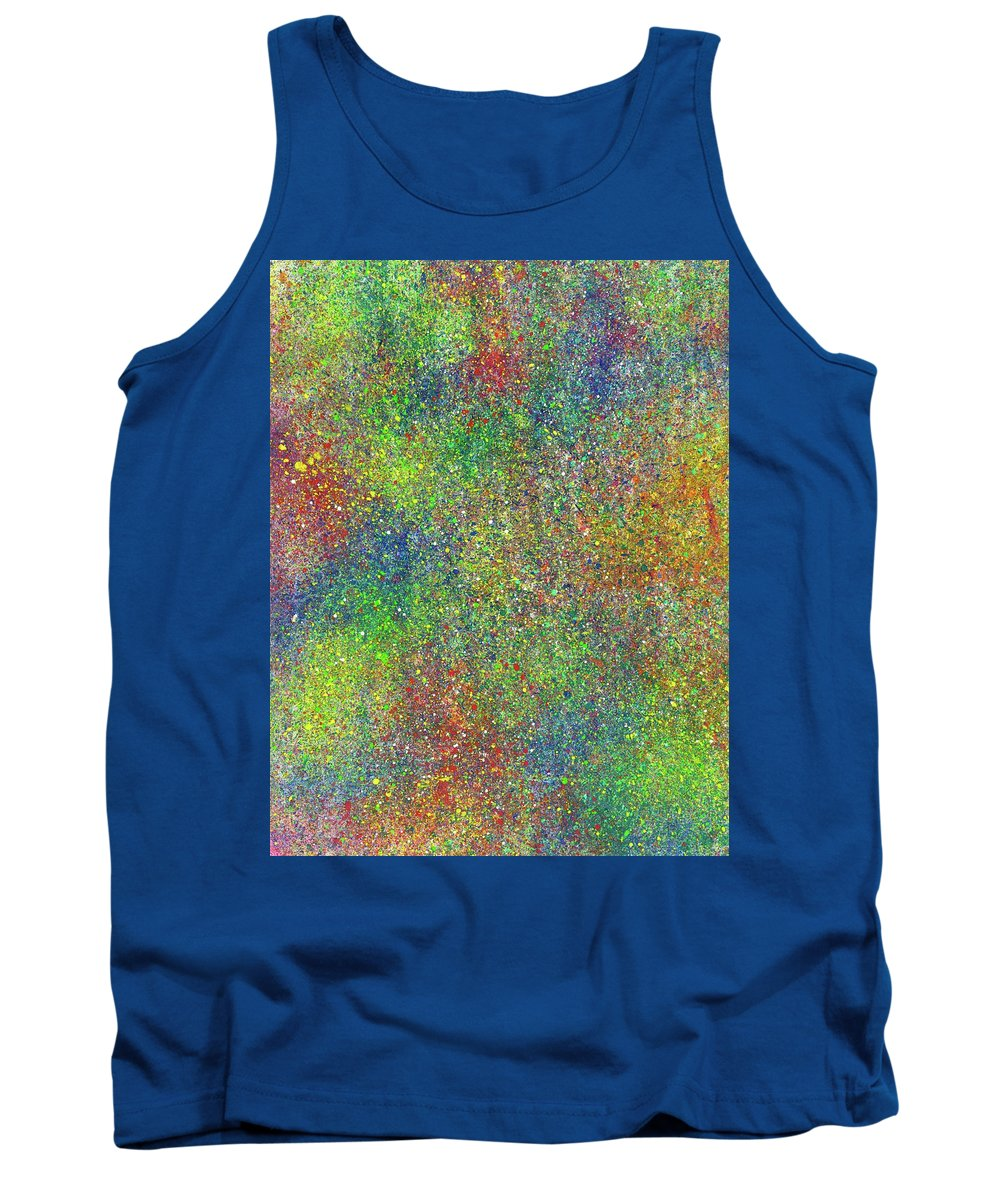Abstract Tank Top featuring the painting The God Particles #543 by Rainbow Artist Orlando L