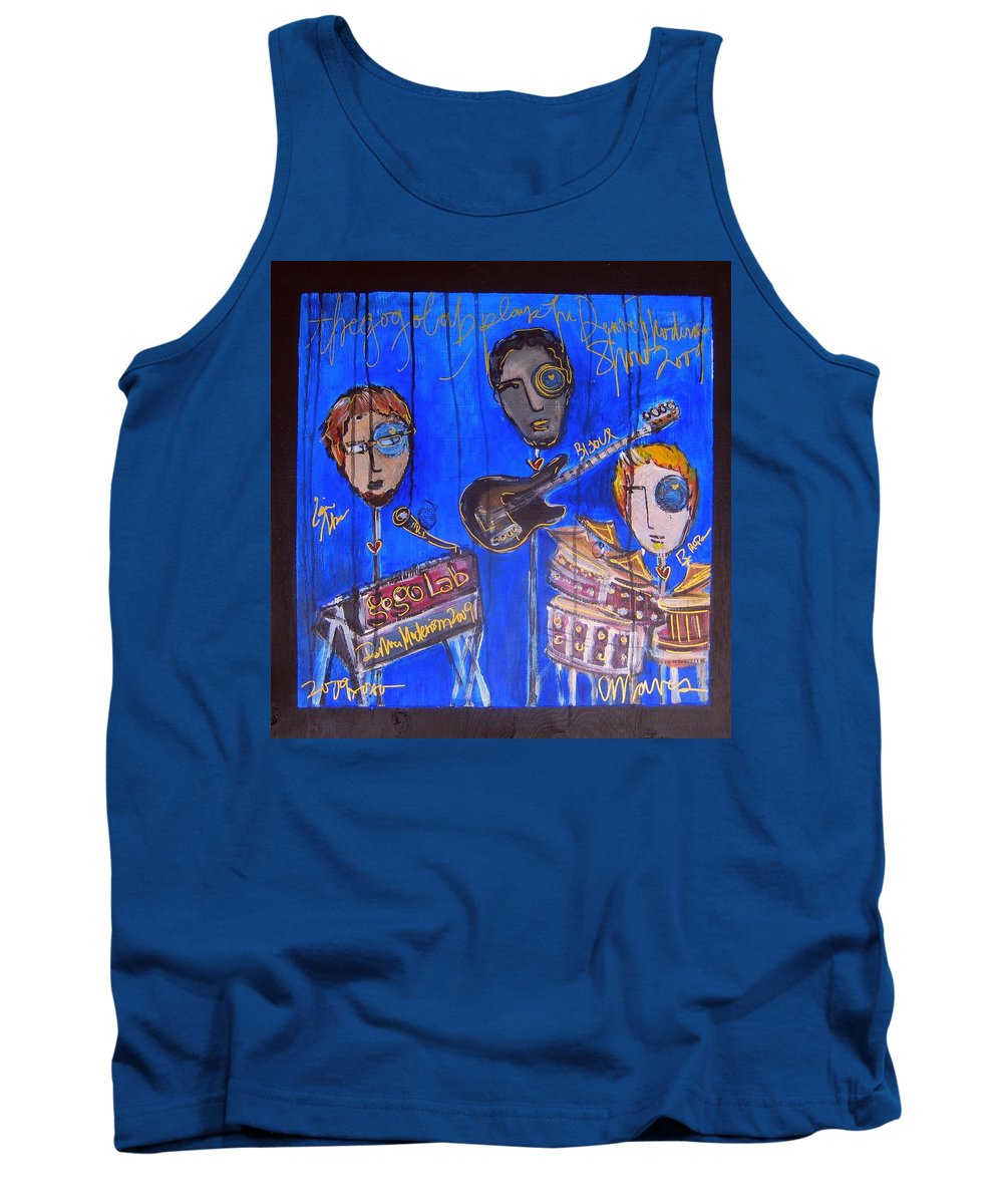 Gogolab Tank Top featuring the painting The Gogolab Painted Live by Laurie Maves ART