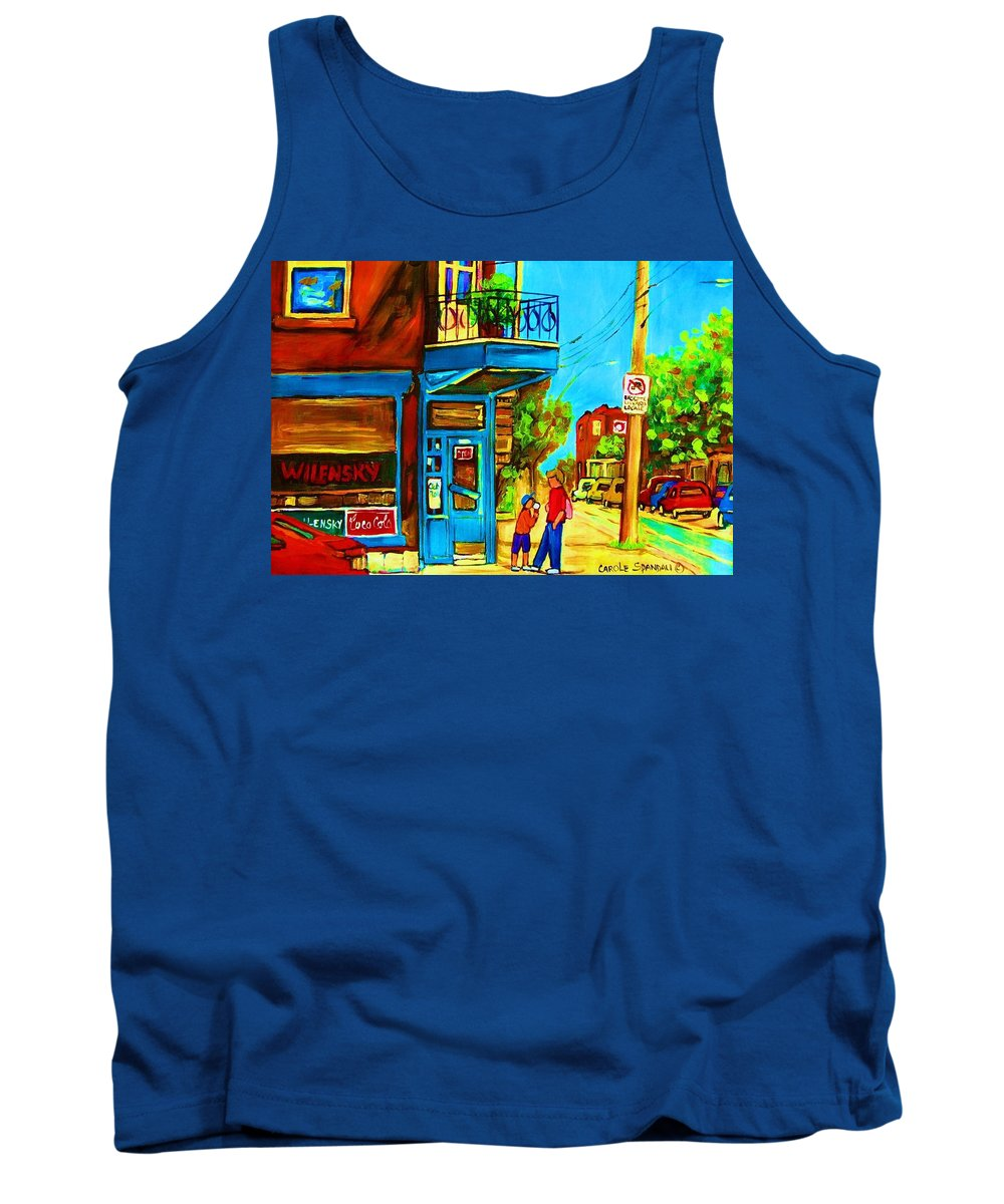 Wilenskys Deli Tank Top featuring the painting The Icecream Cone by Carole Spandau