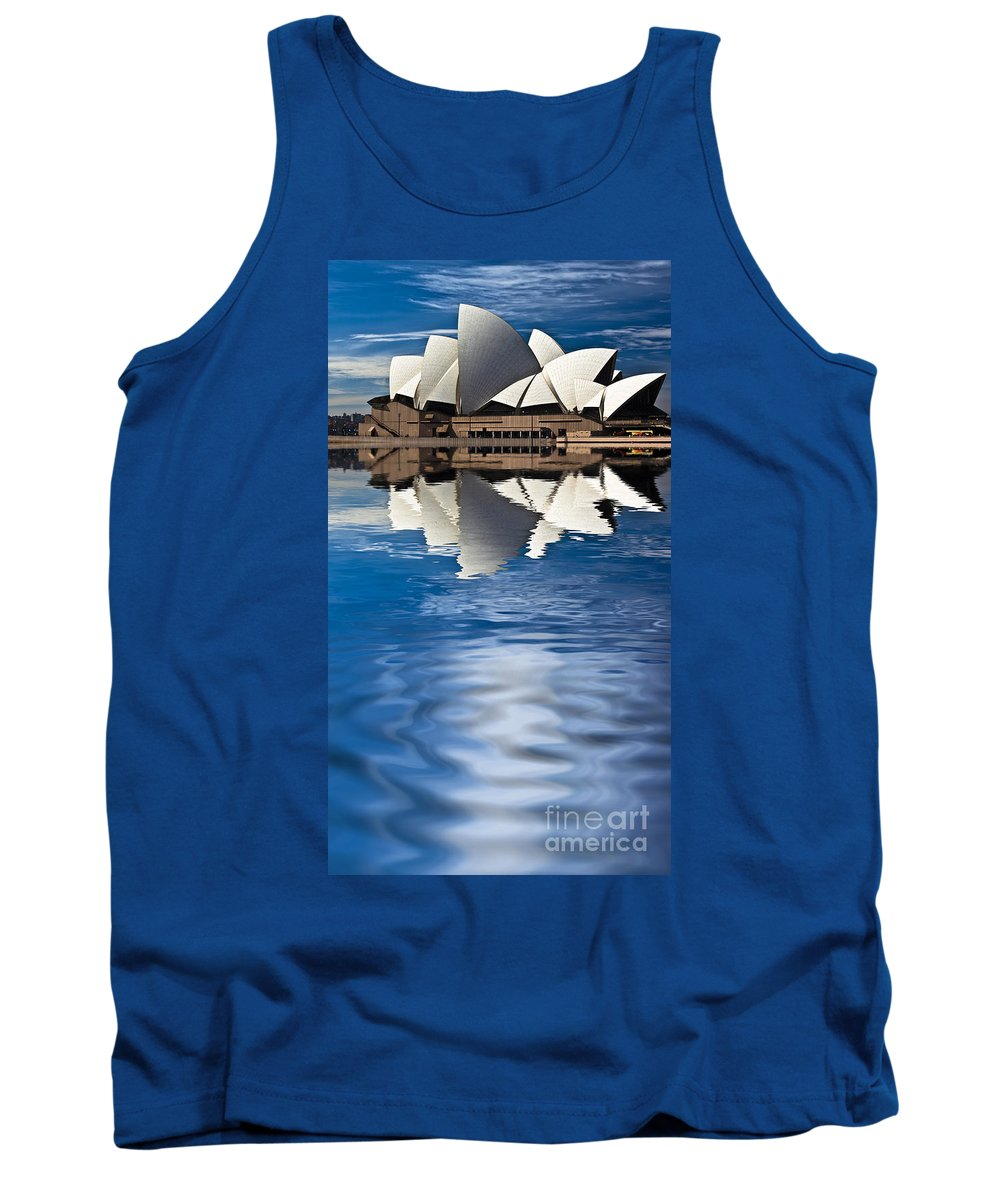Sydney Opera House Sydney Harbour Tank Top featuring the photograph The Iconic Sydney Opera House by Sheila Smart Fine Art Photography