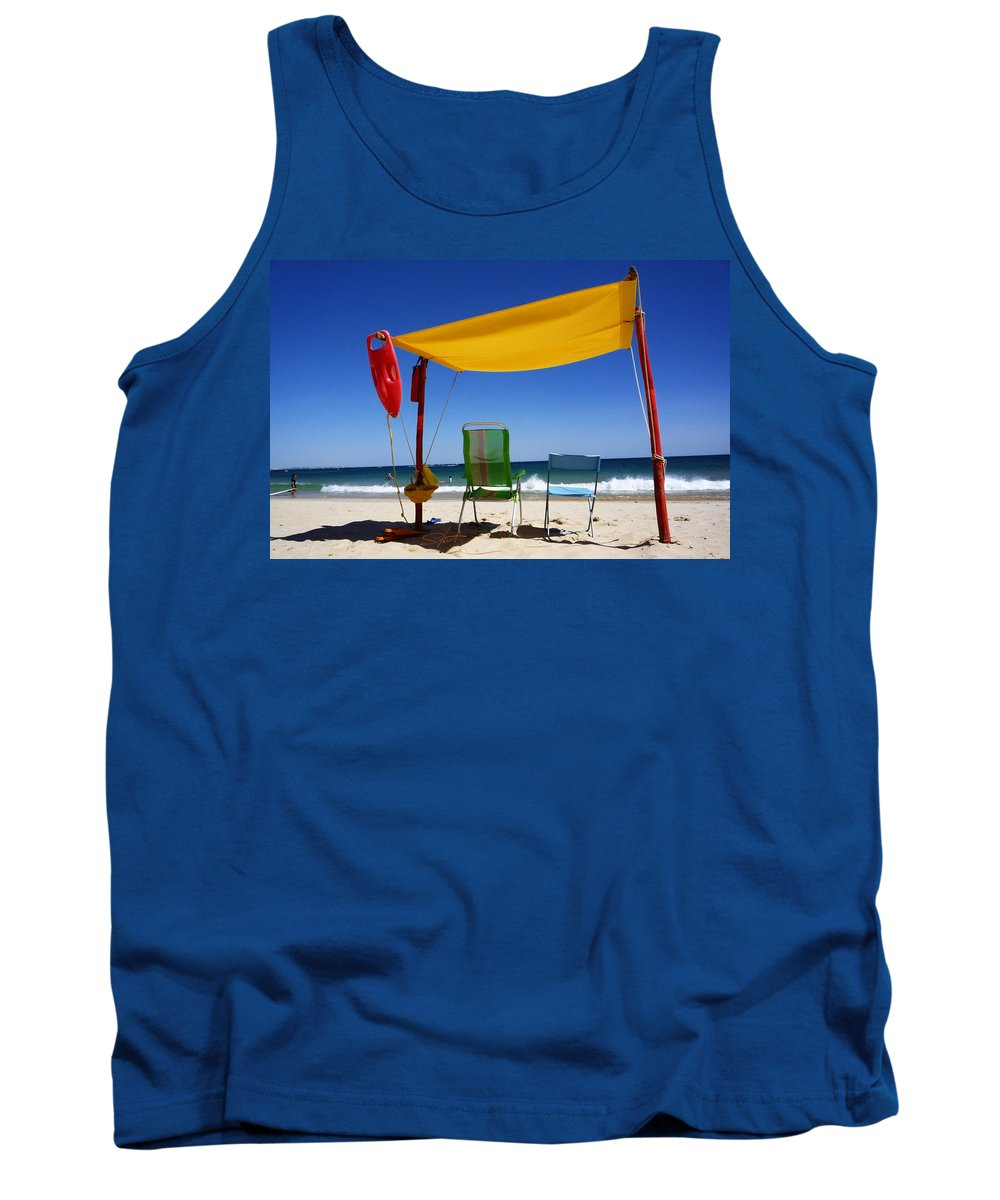 Life Guard Tank Top featuring the photograph The Lonely Sea And The Sky by Charles Stuart