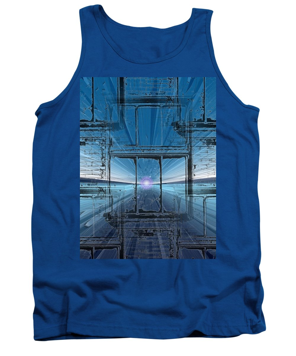 Tank Top featuring the digital art The Looking Glass by Tim Allen