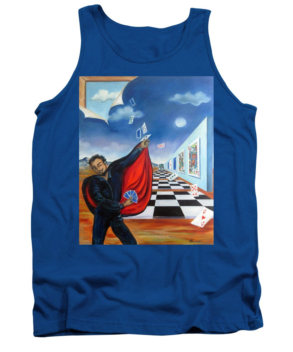 Surreal Landscape Tank Top featuring the painting The Magician by Valerie Vescovi