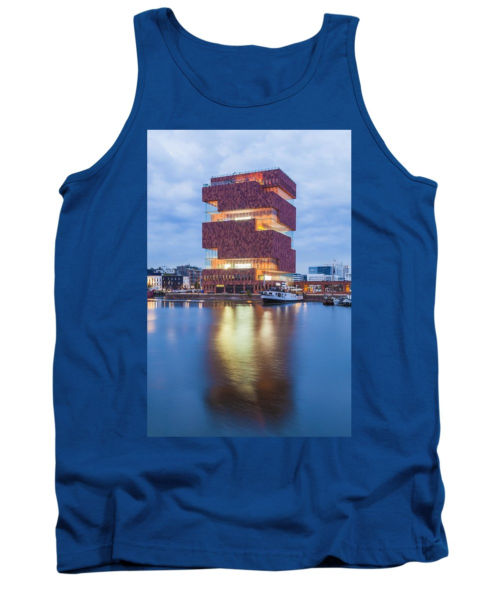 Neutelings Riedijk Architects Tank Top featuring the photograph The Museum Aan De Stroom by Werner Dieterich