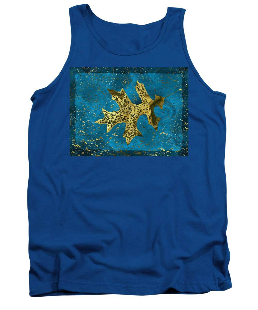 Oak Tank Top featuring the digital art The Oak Leaf And The Wind Storm by Tim Allen