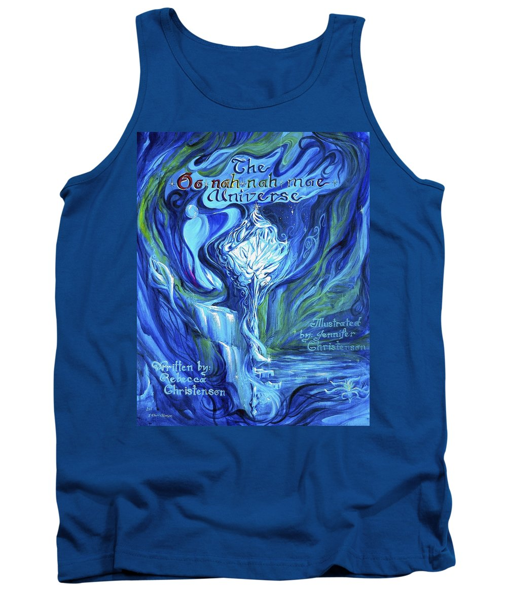 Platonic Solids Tank Top featuring the painting The Oonahnahmae Universe Book Cover by Jennifer Christenson