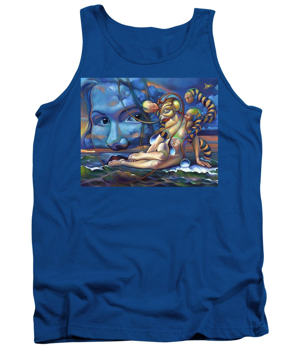 Mermaid Tank Top featuring the painting The Rebirth Of Venus by Patrick Anthony Pierson