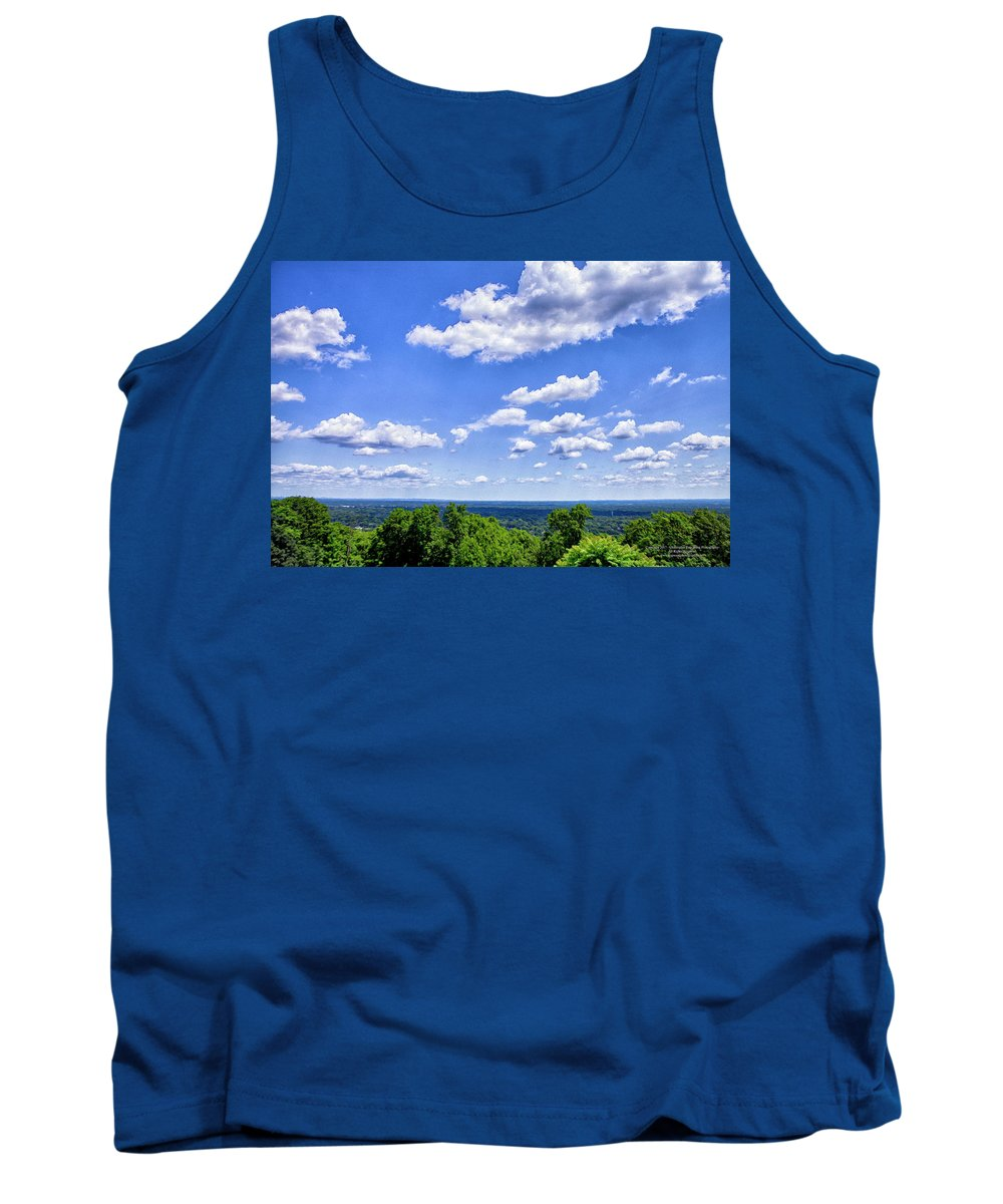 Green Brook Tank Top featuring the digital art The View by Christopher Eng-Wong