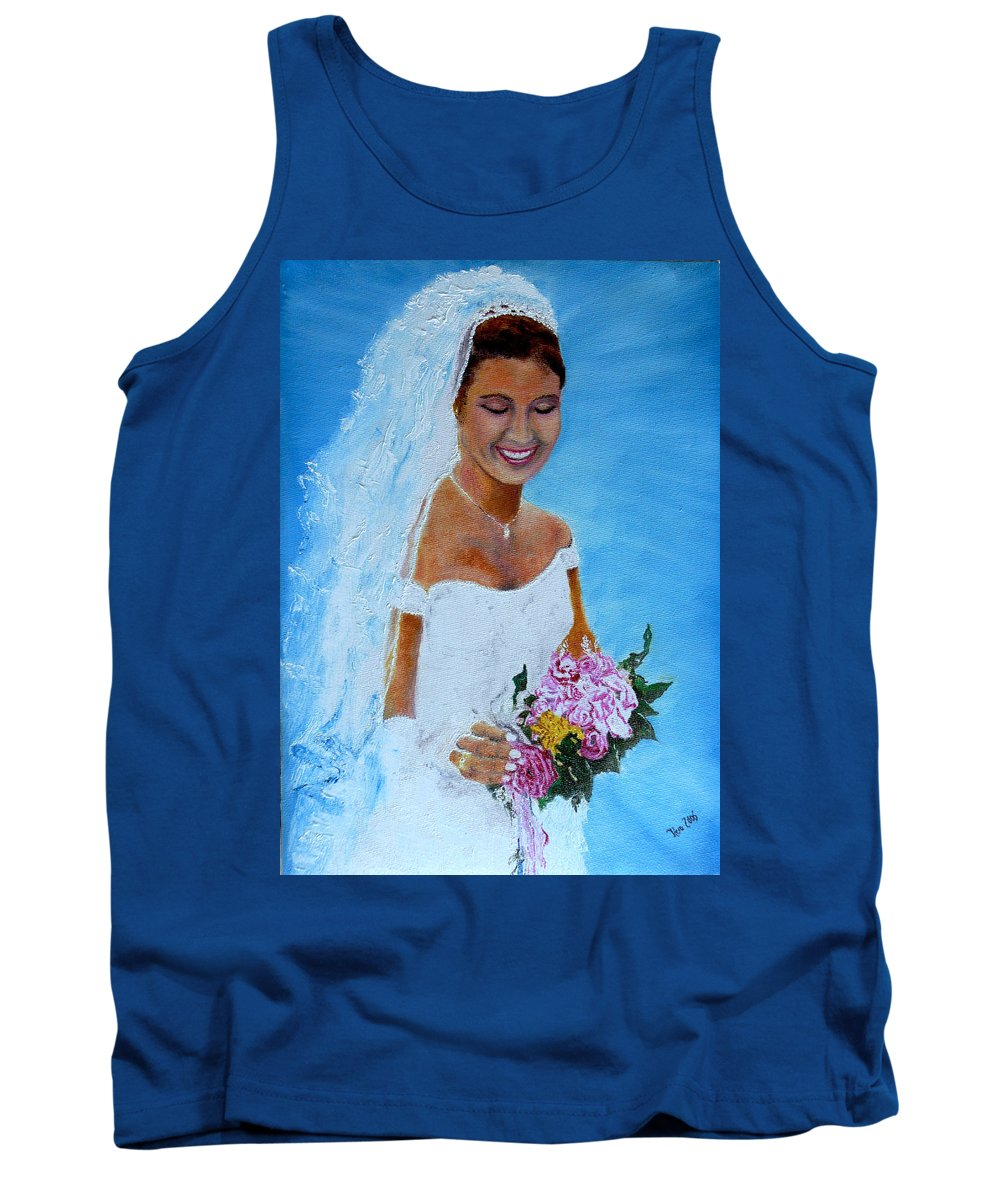 Wedding Tank Top featuring the painting the wedding day of my daughter Daniela by Helmut Rottler