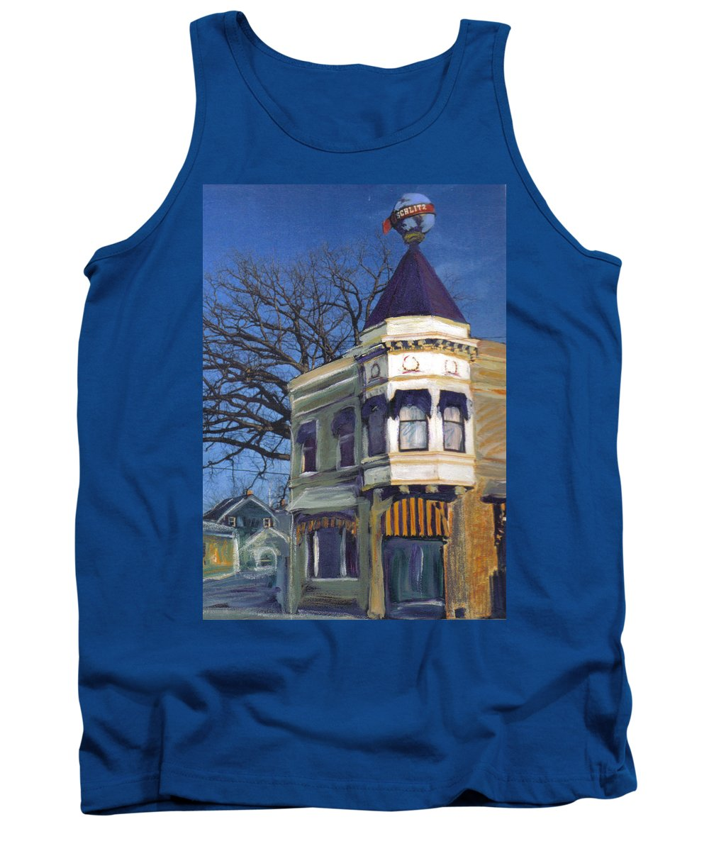 Miexed Media Tank Top featuring the mixed media Three Brothers by Anita Burgermeister