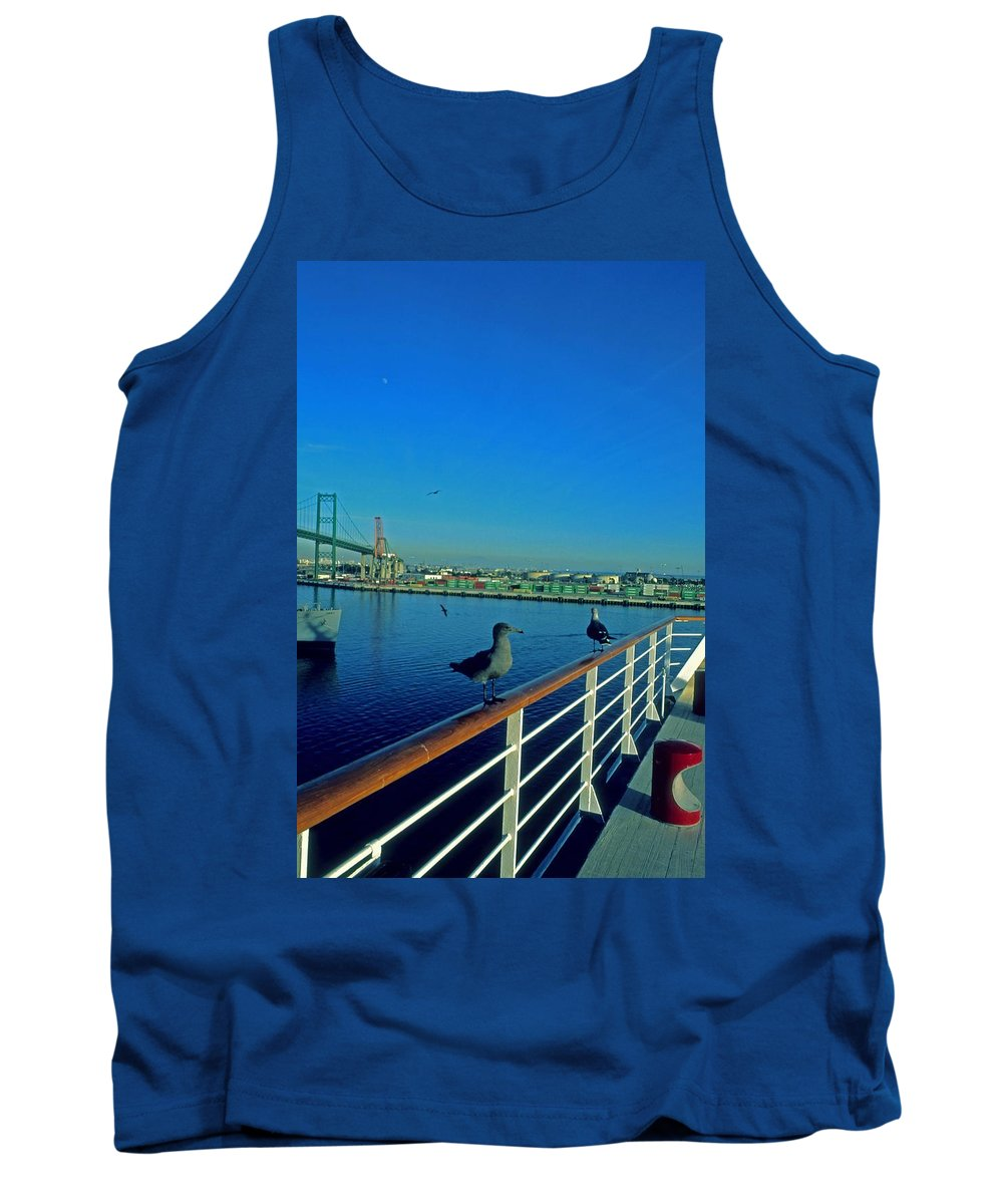 Sea Gull Tank Top featuring the photograph Time For A Cruise by Gary Wonning