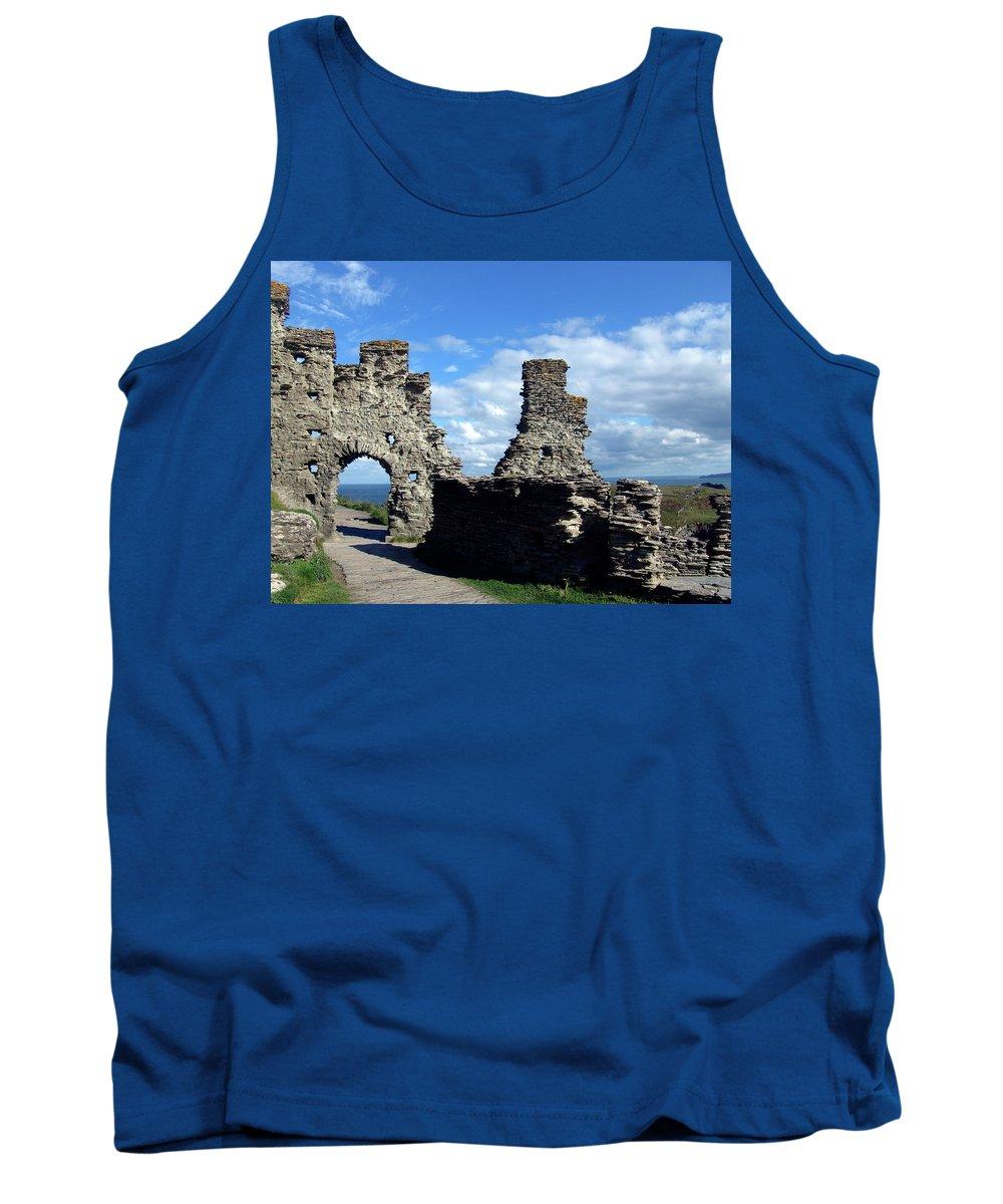 Tintagel Tank Top featuring the photograph Tintagel Castle 2 by Kurt Van Wagner