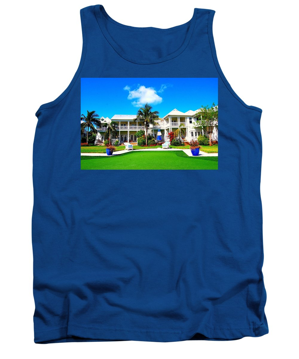Tree Tank Top featuring the photograph Tranquility Bay West View by Randy Aveille