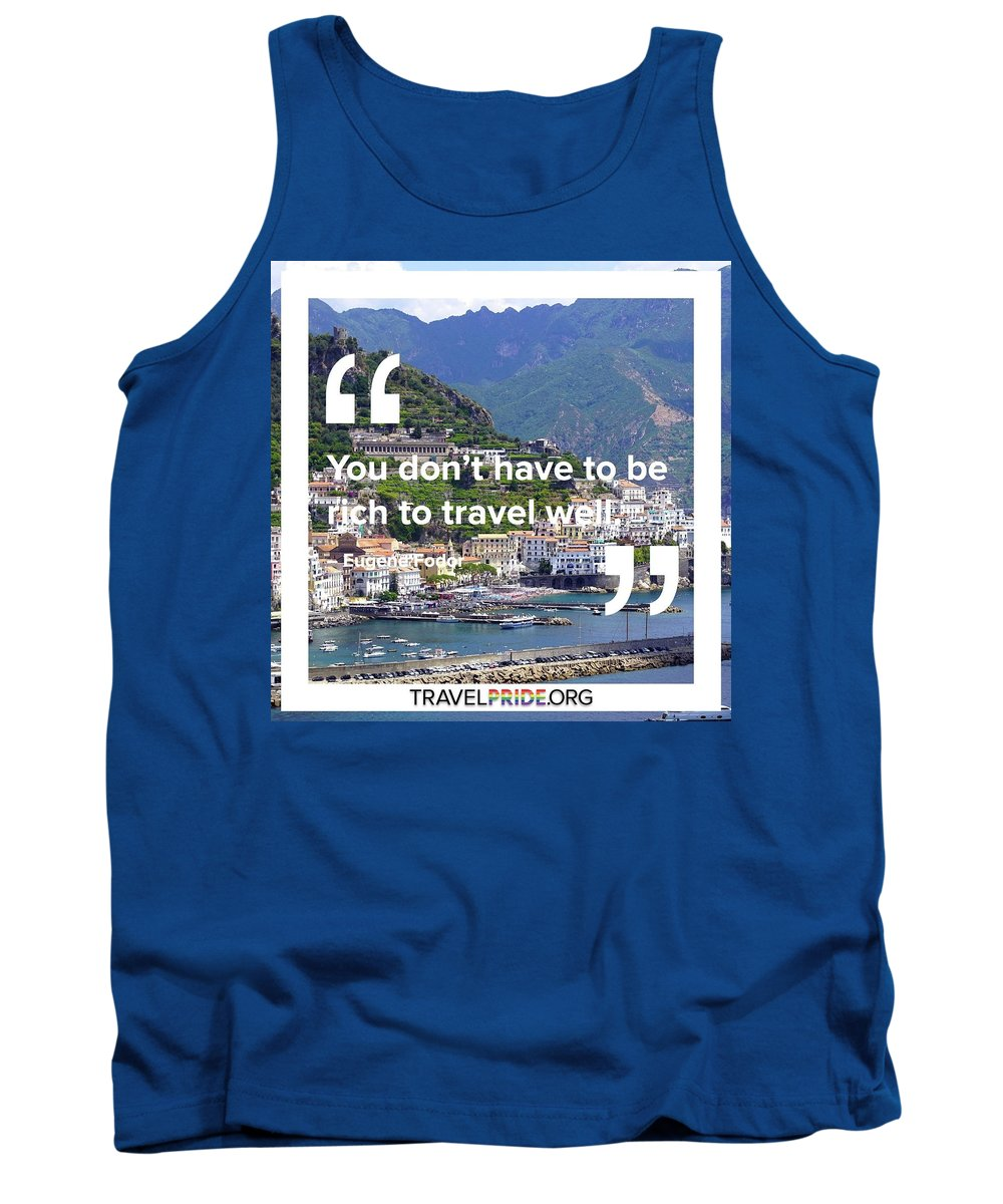 Travel Tank Top featuring the digital art Travel Well by Travel Pride