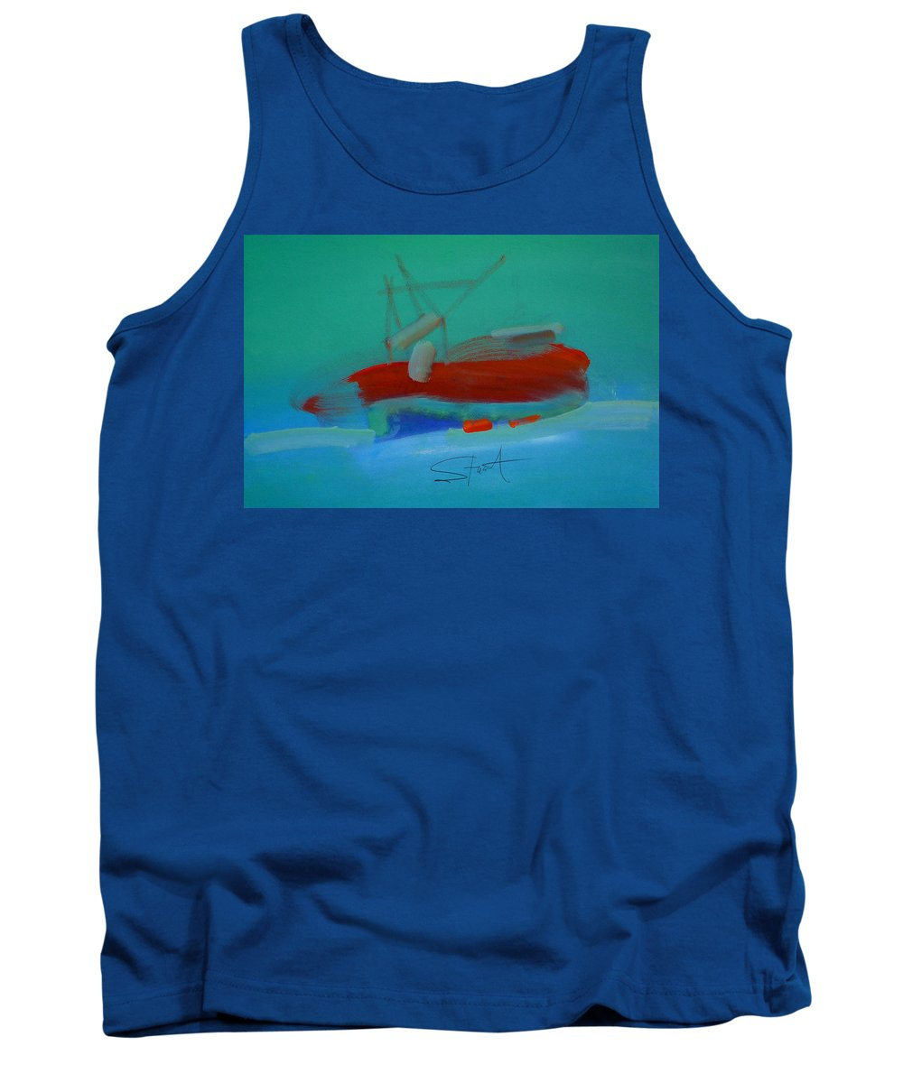 Fishing Boat Tank Top featuring the painting Trawler by Charles Stuart