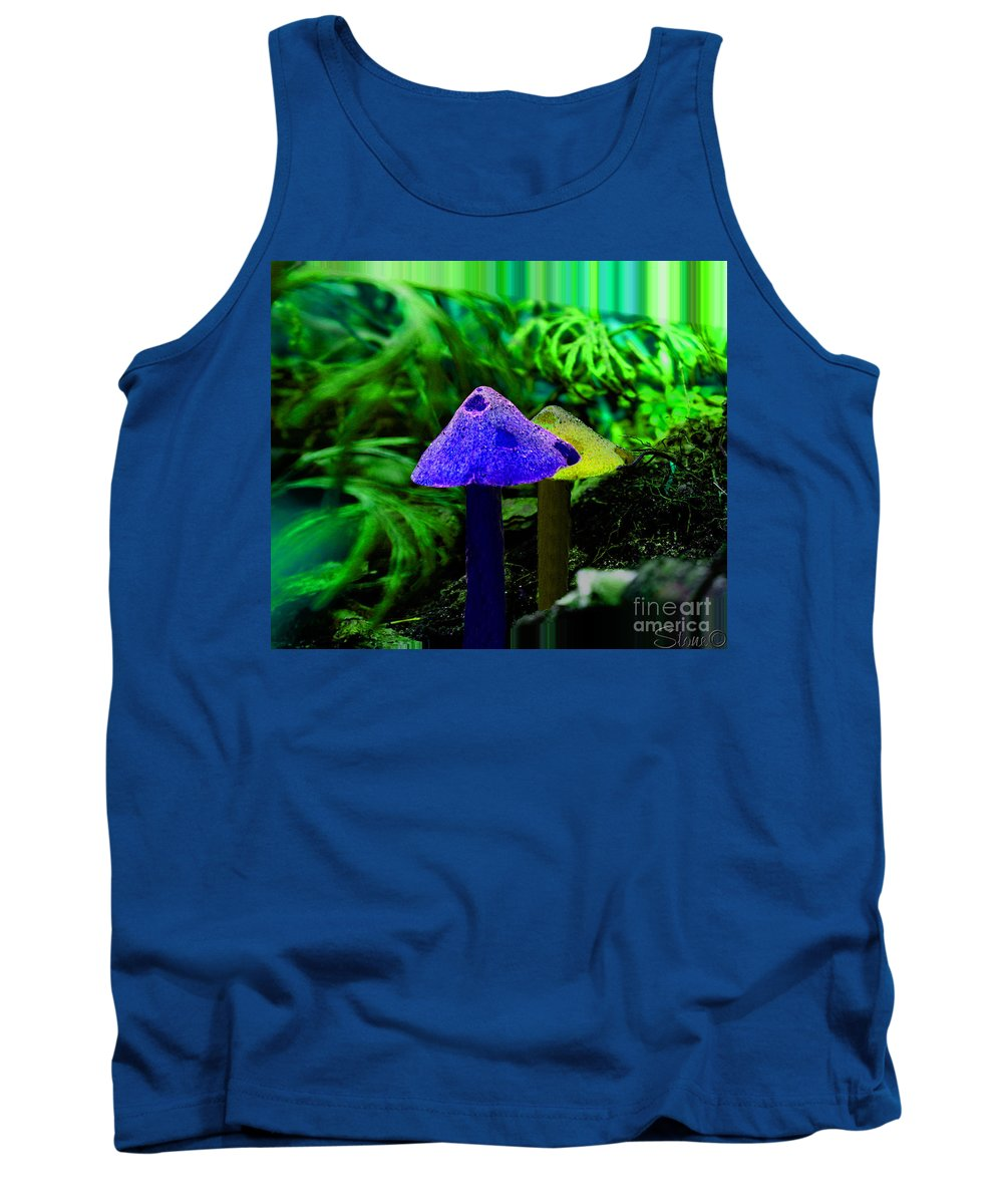 Mushroom Tank Top featuring the photograph Trippy Shroom by September Stone