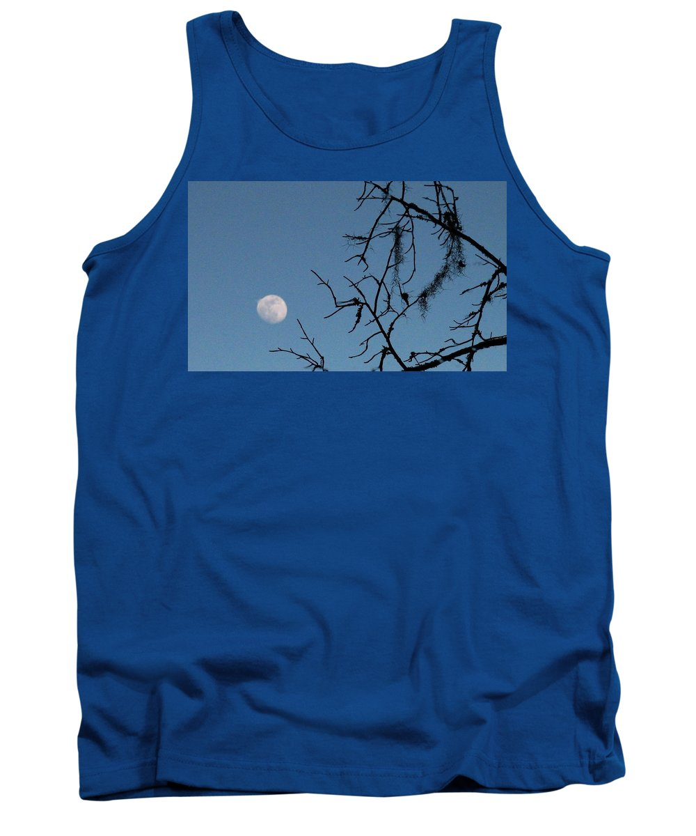 Moon Tank Top featuring the photograph Trompe L Oeil Moon by J M Farris Photography