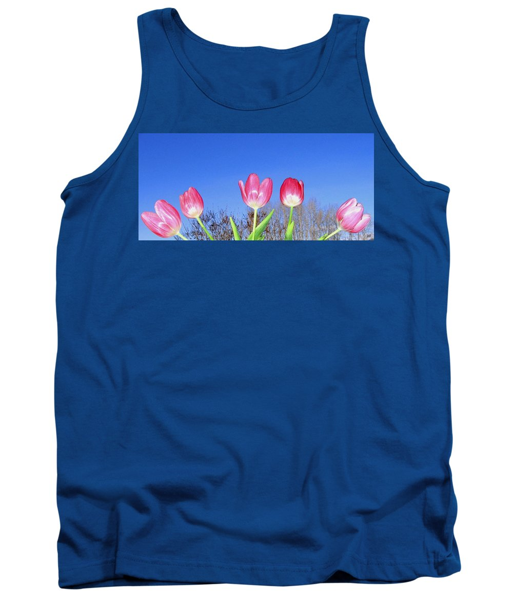 Tulips Tank Top featuring the photograph Tulip Panorama by Will Borden