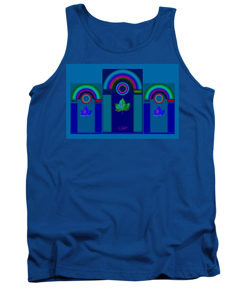Classical Tank Top featuring the digital art Tuscan Winter by Charles Stuart