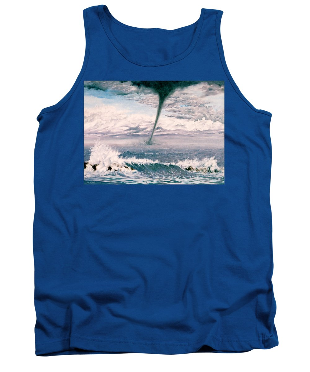 Seascape Tank Top featuring the painting Twisted Nature by Mark Cawood
