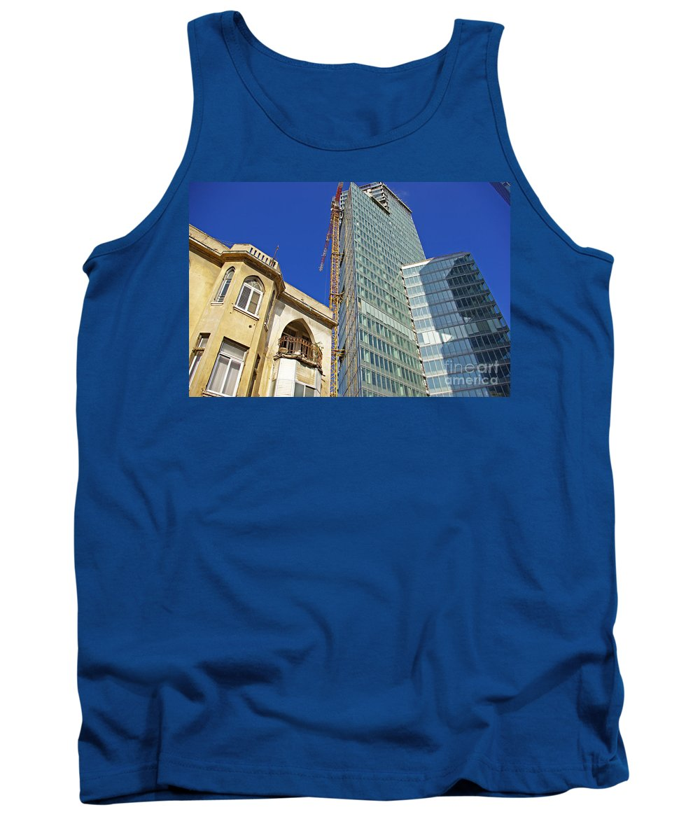 Building Tank Top featuring the photograph Two Buildings.. by Zal Latzkovich