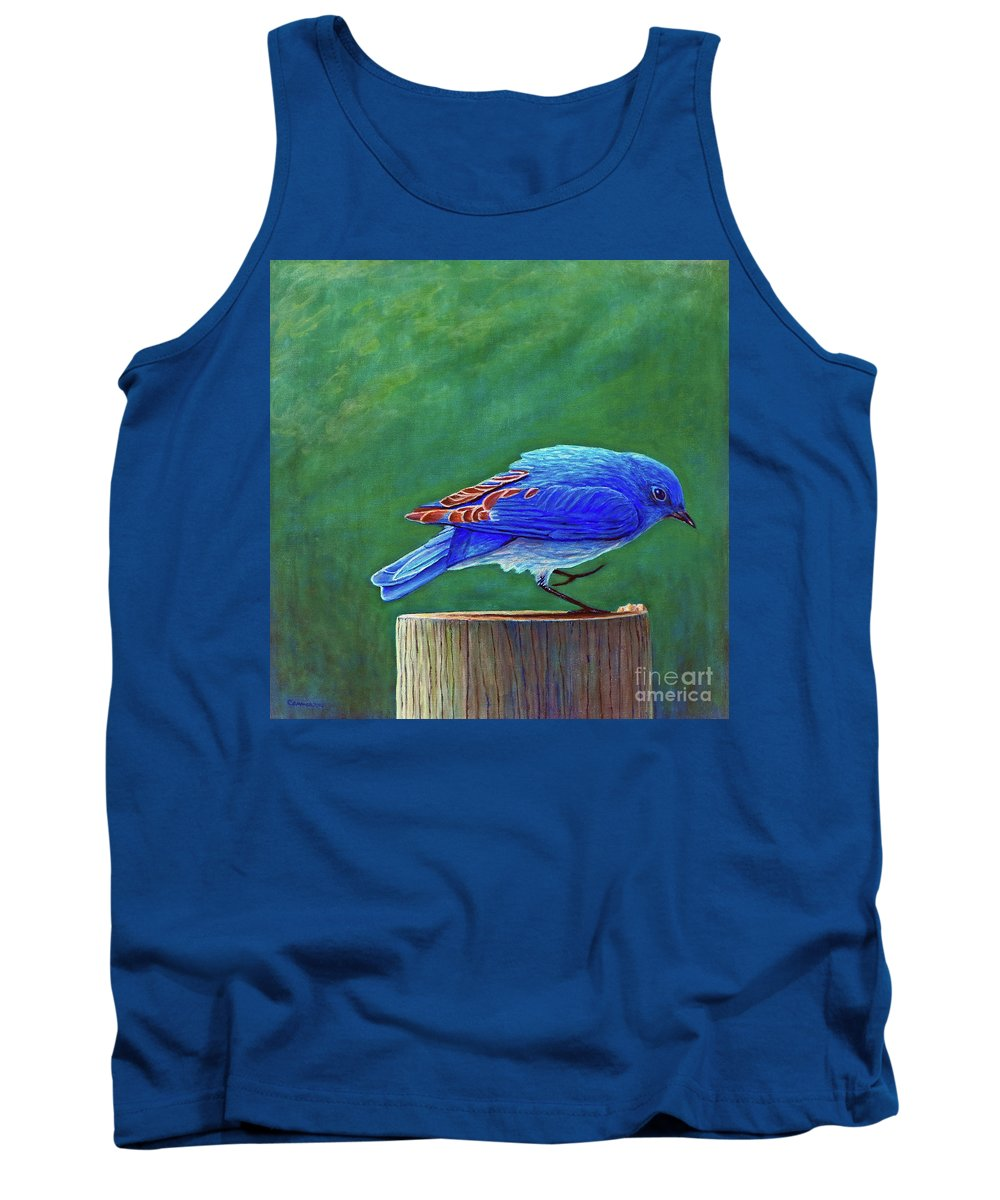 Bluebird Tank Top featuring the painting Two Step by Brian Commerford