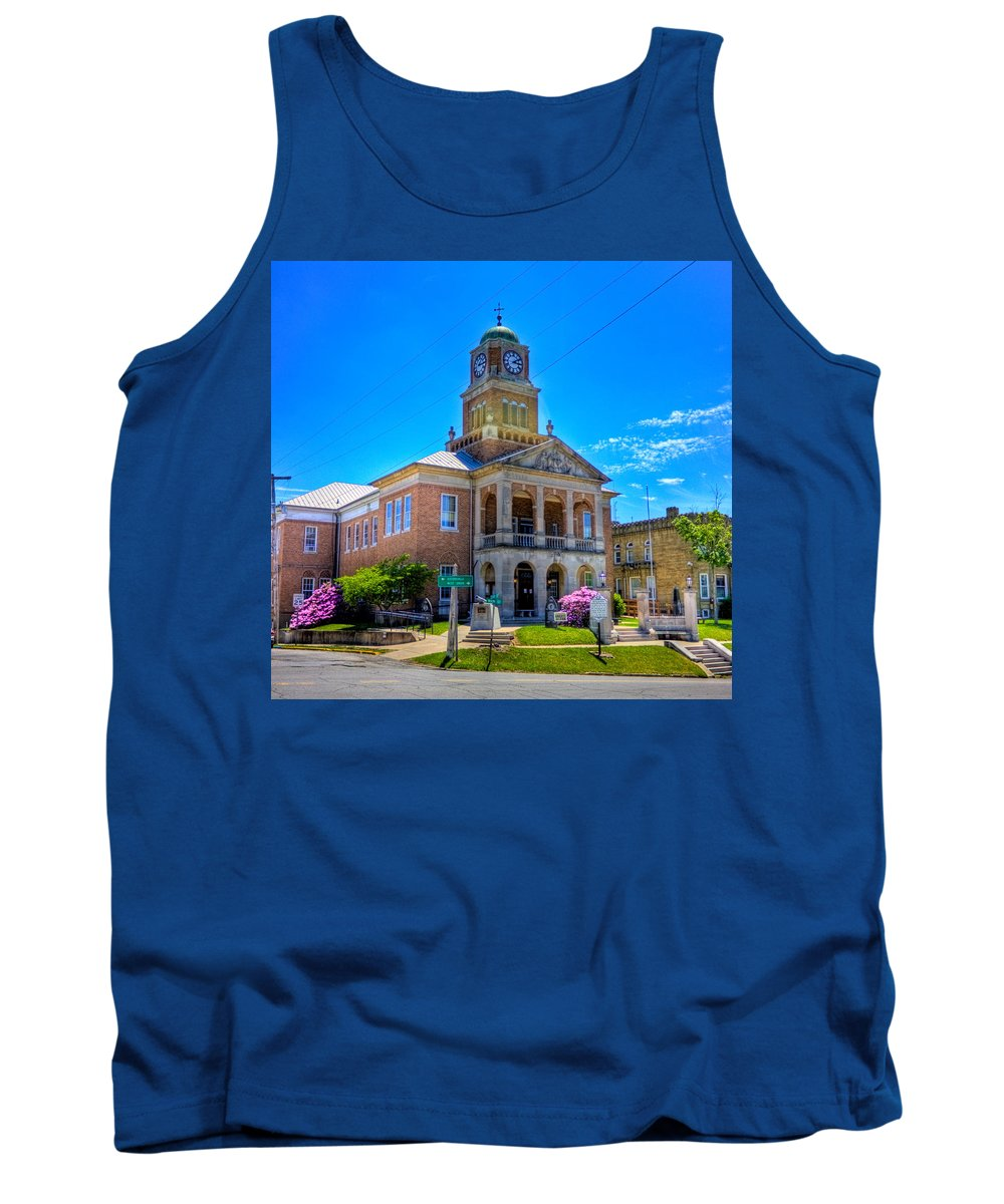 Tyler Tank Top featuring the photograph Tyler County Courthouse by Jonny D