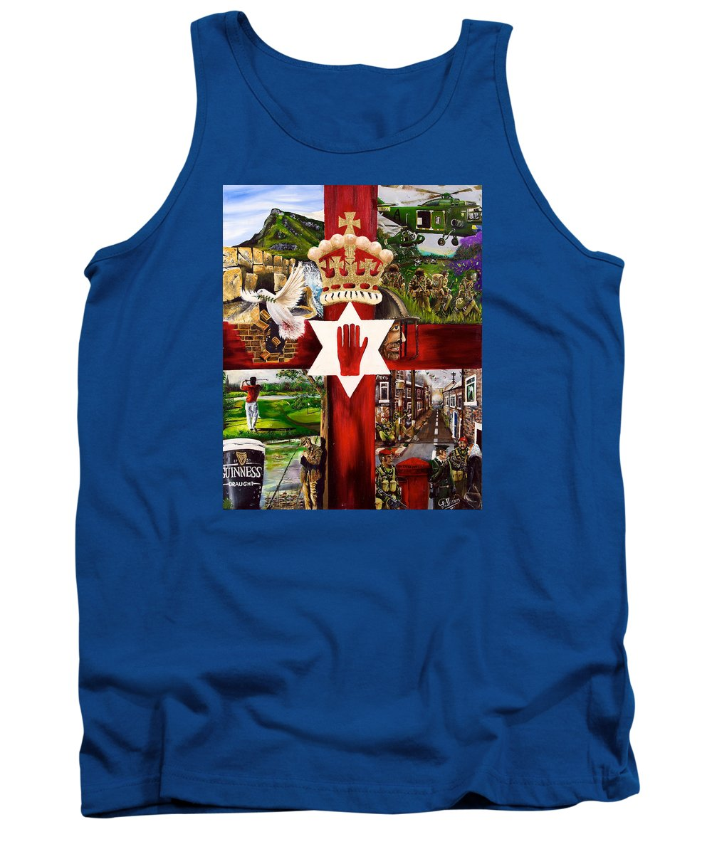 Northern Ireland Uk Tank Top featuring the painting Ulster by John Palliser