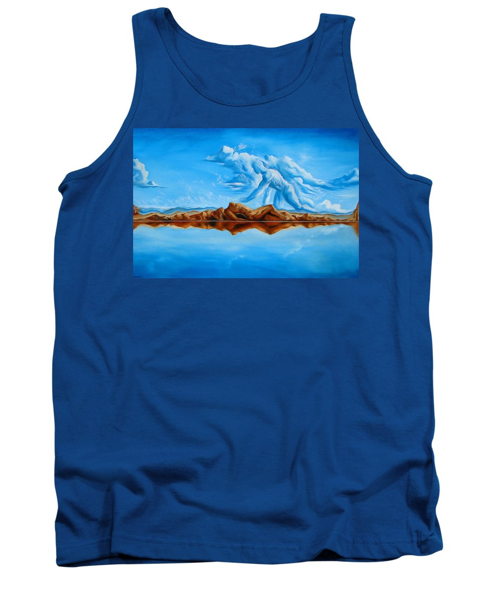 Surrealism Tank Top featuring the painting Unfinished Business by Darwin Leon