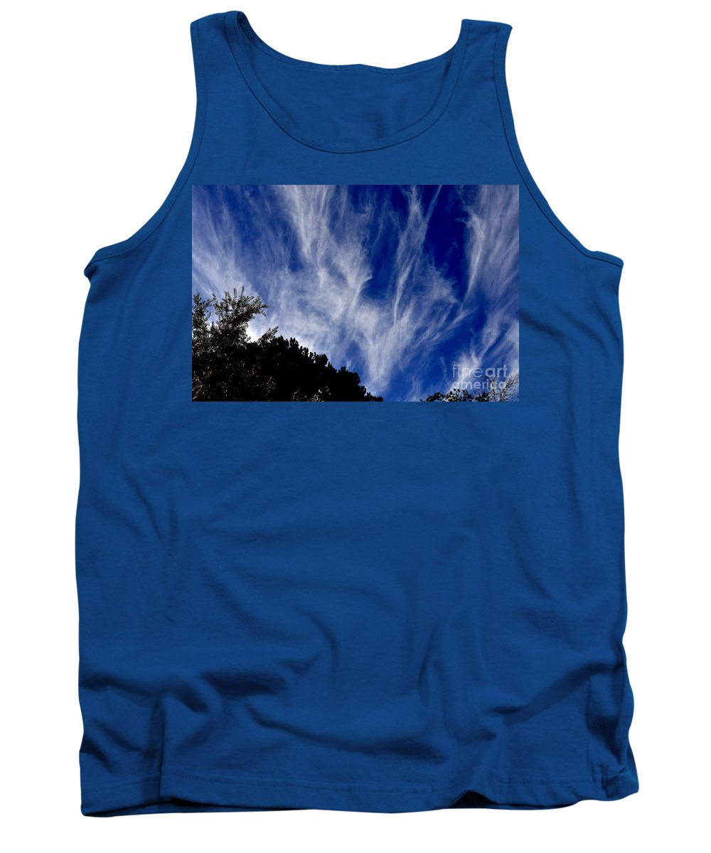 Clay Tank Top featuring the photograph Vertical Clouds by Clayton Bruster