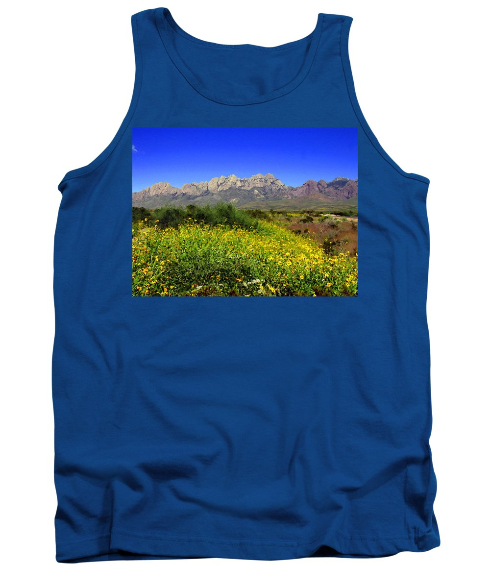 Organ Mountains Tank Top featuring the photograph View From Dripping Springs Rd by Kurt Van Wagner