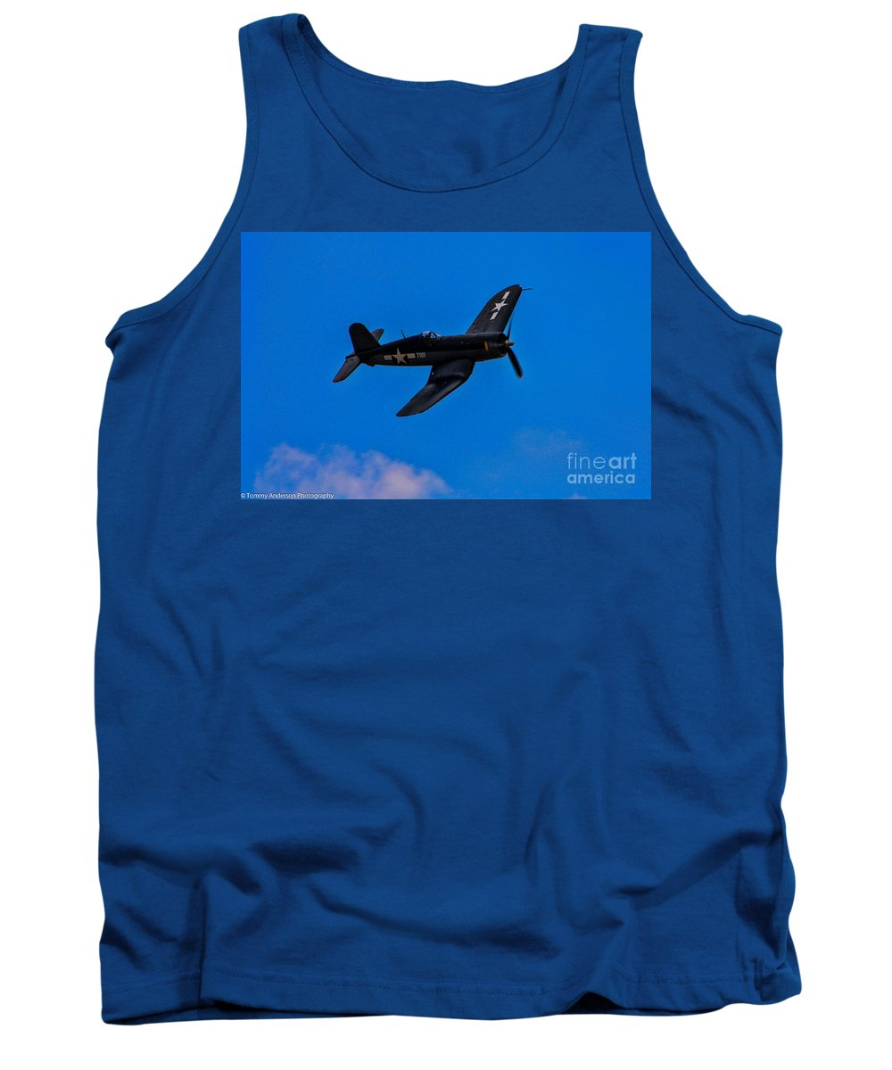 Vought F-4u Corsair Tank Top featuring the photograph Vought F-4u Corsair by Tommy Anderson