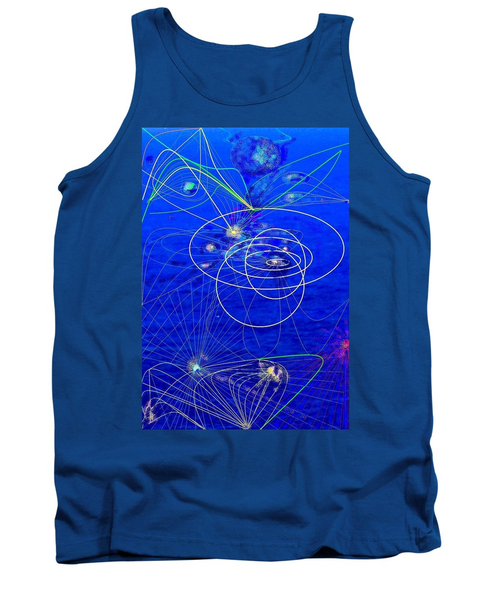Abstract Tank Top featuring the digital art Voyage by Ian MacDonald