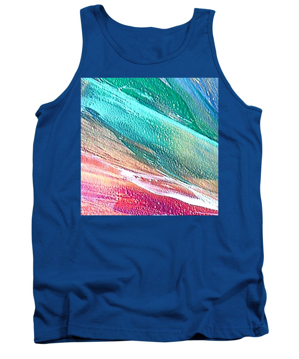 Encaustic Painting Tank Top featuring the painting W 005 by Dragica Micki Fortuna
