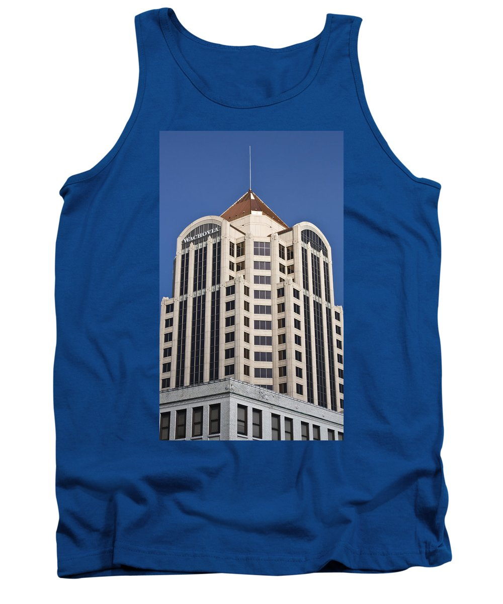 Roanoke Tank Top featuring the photograph Wachovia Tower Roanoke Virginia by Teresa Mucha