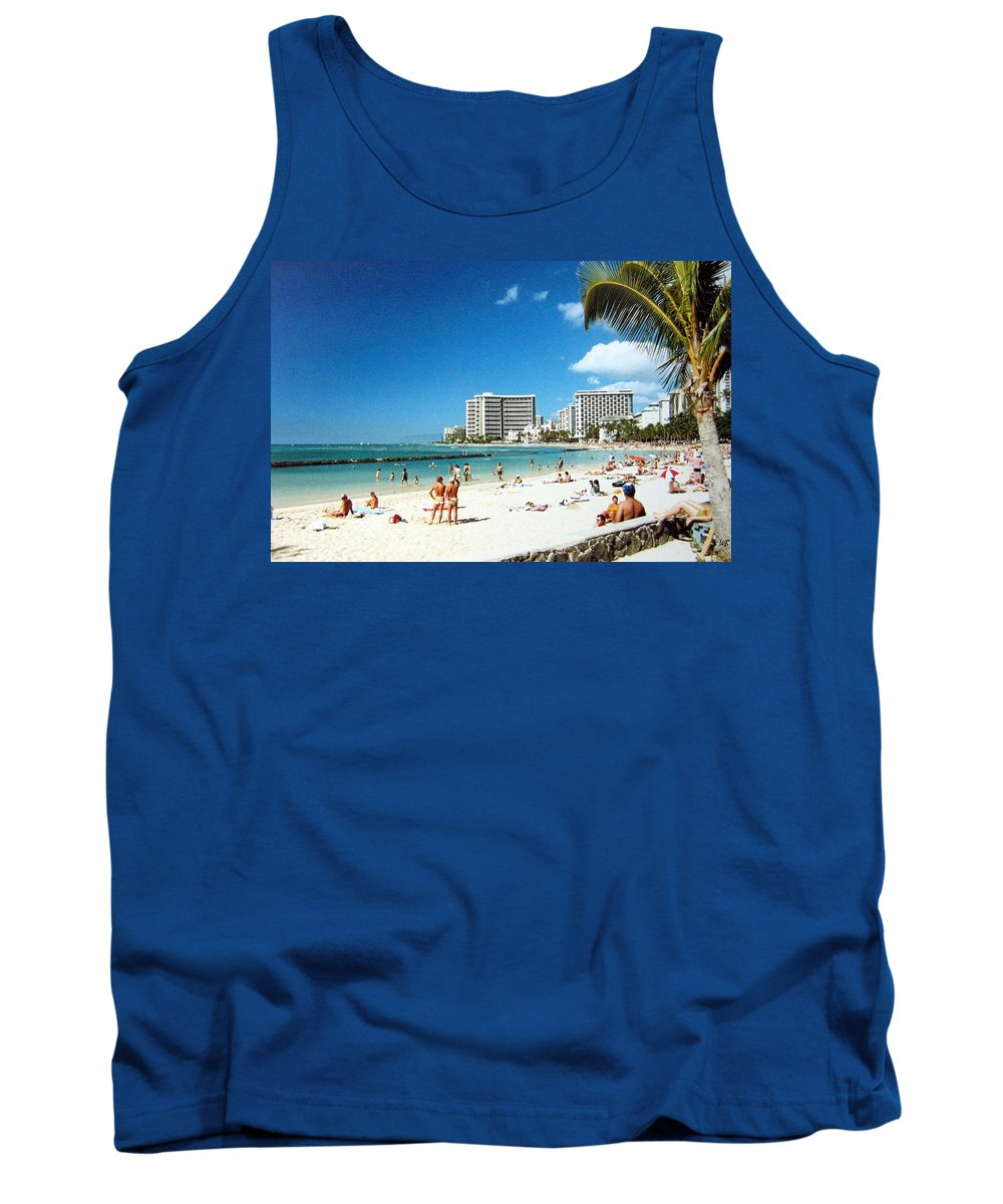 1986 Tank Top featuring the photograph Waikiki Beach by Will Borden