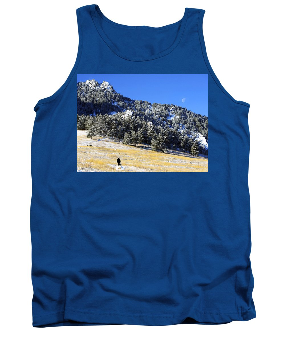 Colorado Tank Top featuring the photograph Walking Under The Moon by Marilyn Hunt