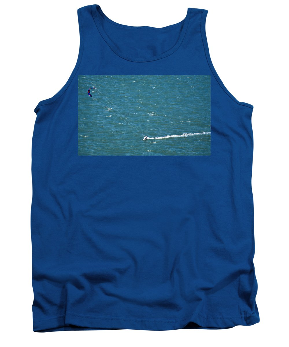 Water Tank Top featuring the photograph Water Glider by Marilyn Hunt