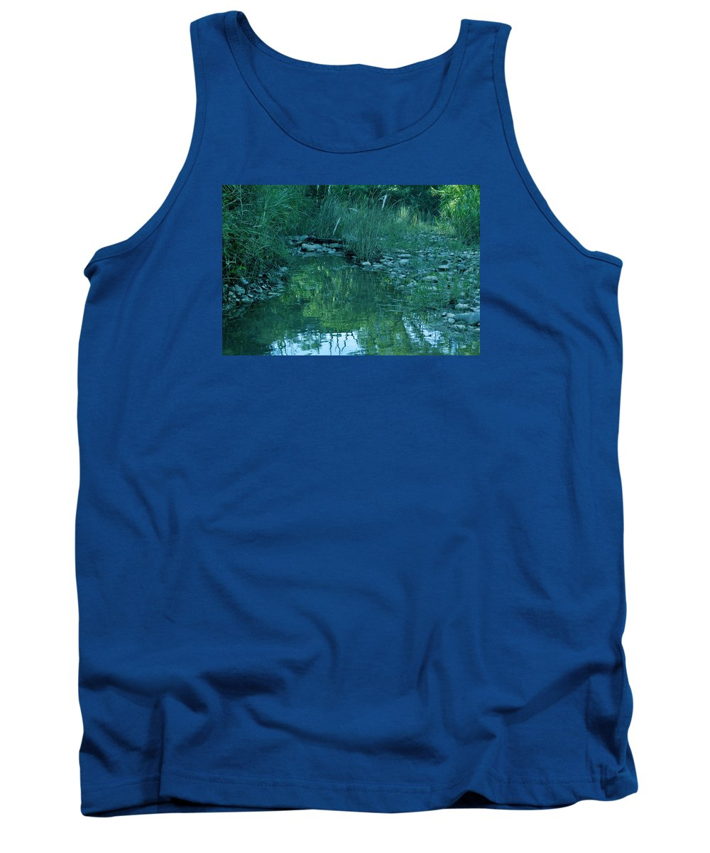 Water Tank Top featuring the photograph Water Stones by Bliss Of Art
