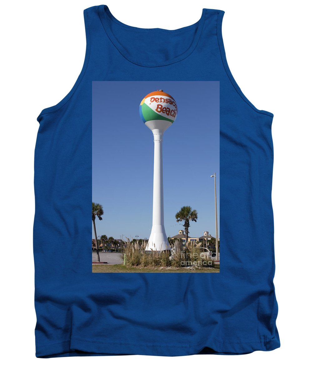 Florida Tank Top featuring the photograph Water Tower - Pensacola Beach Florida by Anthony Totah
