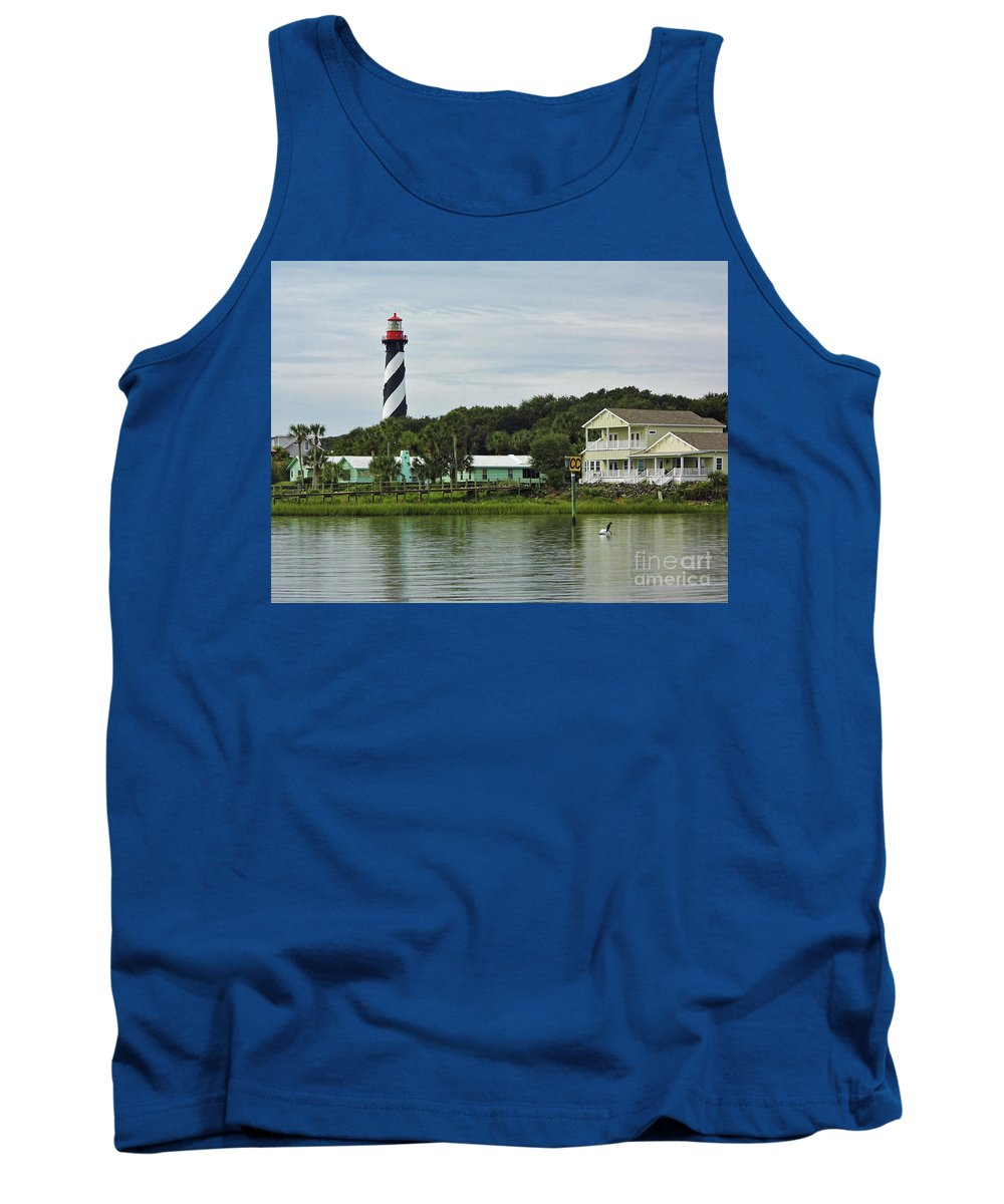 Cedar Key Tank Top featuring the photograph Historic Waterfront Beauty by D Hackett