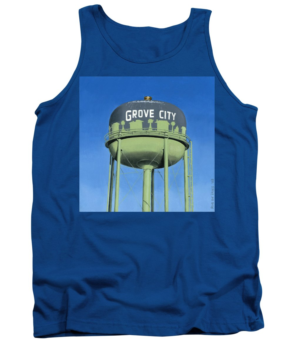 Old Tank Top featuring the painting Watertower Grove City by Rob De Vries