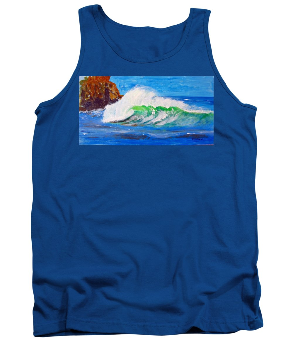 Waves Tank Top featuring the painting Waves by Richard Le Page