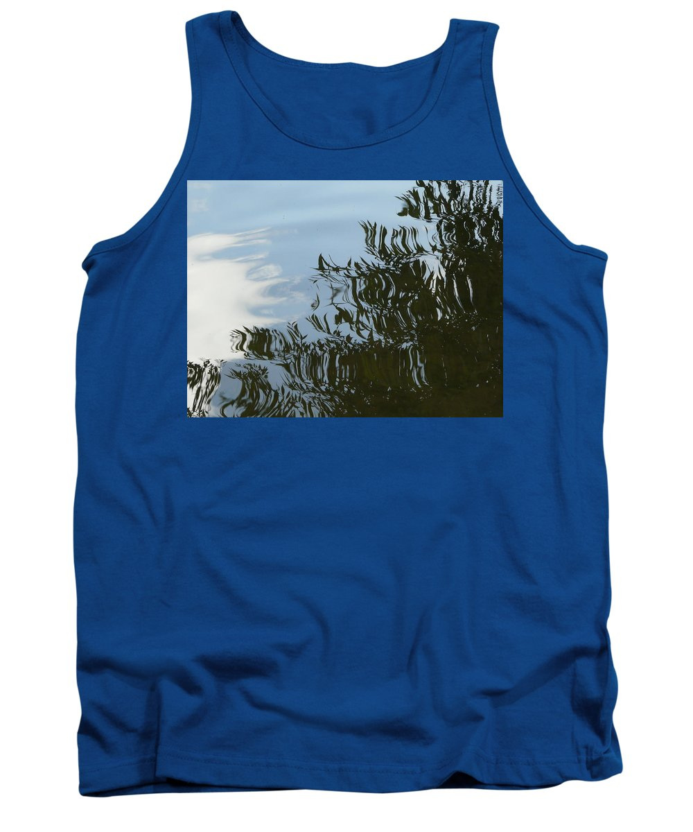 Tree Tank Top featuring the photograph Weeping Willow Reflection by Valerie Ornstein