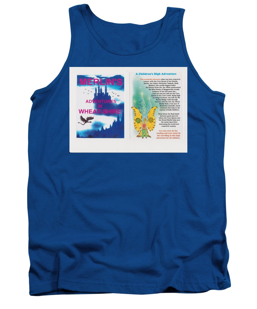 Adventures Books Tank Top featuring the mixed media  Wheat-shire Theme Park by MERLIN Vernon