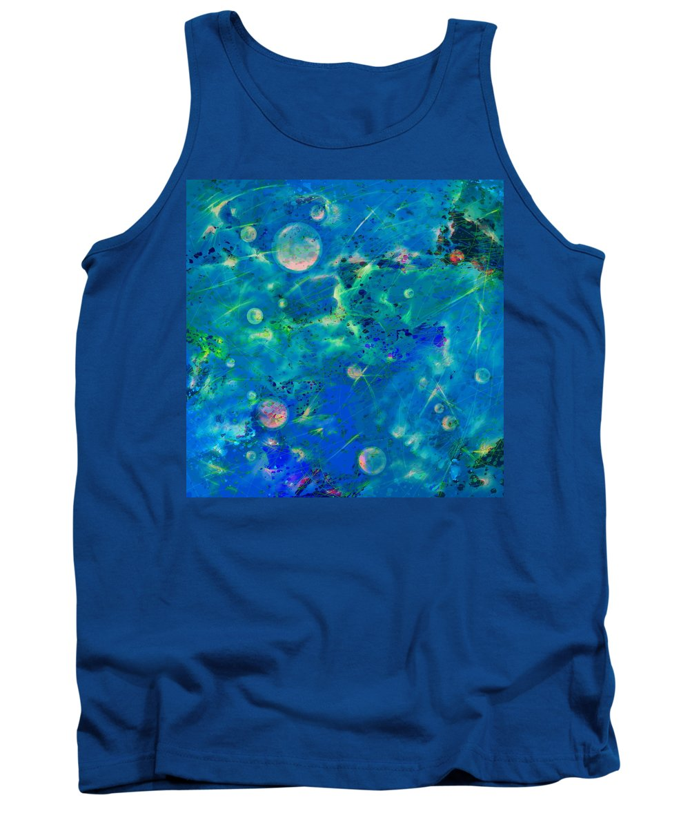 Abstract Tank Top featuring the digital art Where Dreams Are Born by Rachel Christine Nowicki